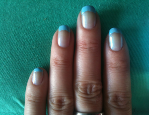 loreal blauwe nagels tips